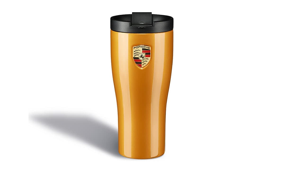 Porsche Thermal Mug - Golden Yellow Metallic