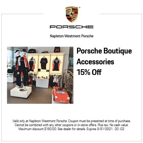 Porsche Boutique Accessories 15% Off