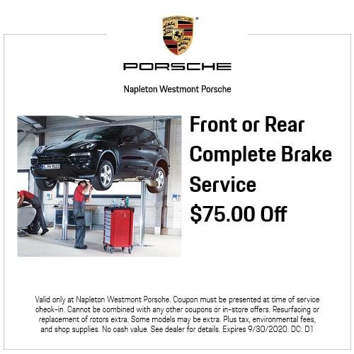 Front or Rear Complete Brake Service