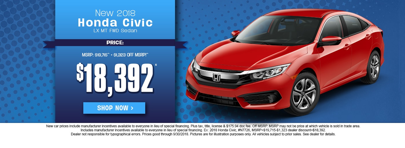 Honda Civic Special Deal