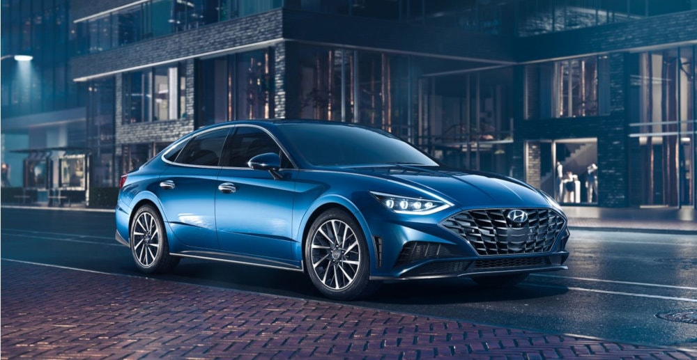 2020 Hyundai Sonata Parked on Street at Night