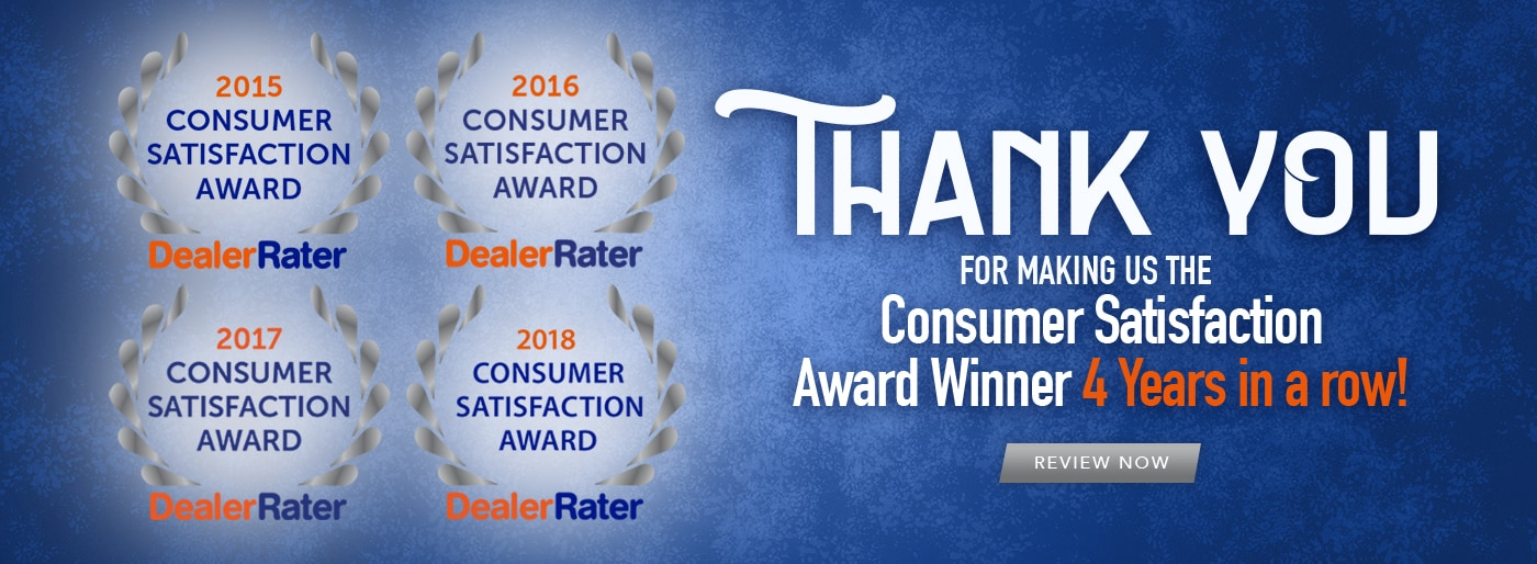 Winner of Consumer Satisfaction Award 4 Years In A Row