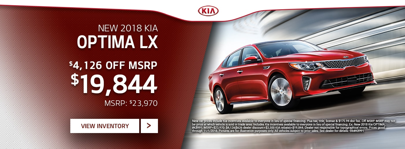 Kia Optima Special Deal