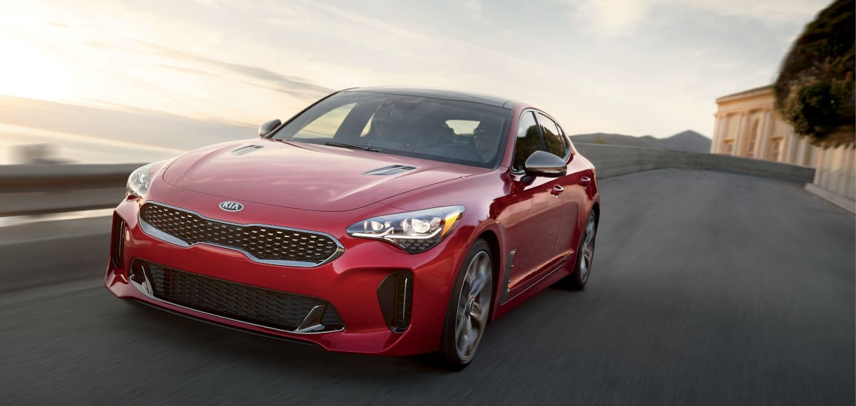 Kia Stinger Red Sports Car Performance