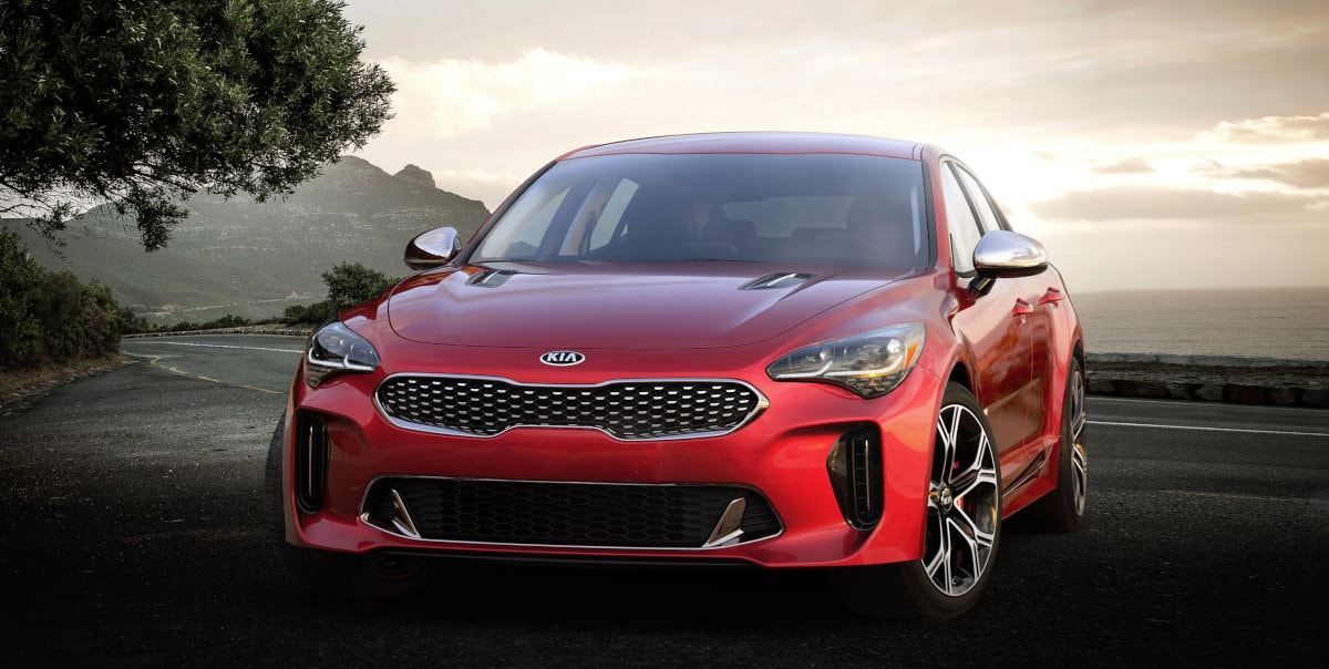 Red Kia Stinger Sports Car