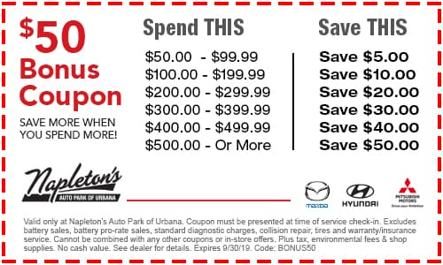 Service Specials | Service Coupons | Napleton's Auto Park of
