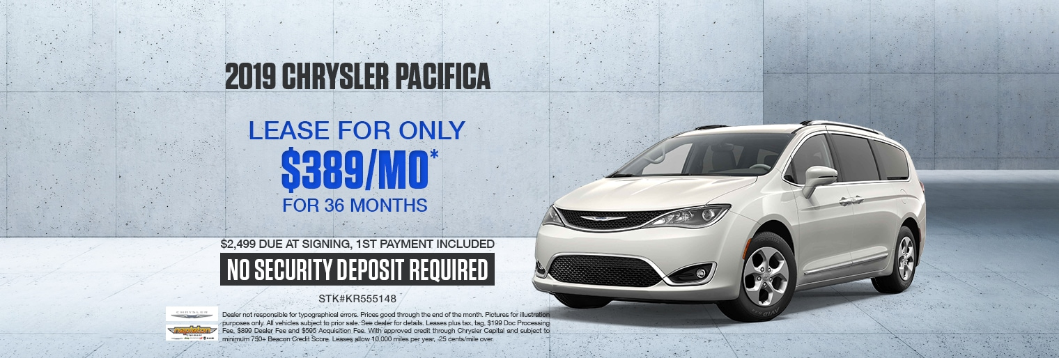 Chrysler Pacifica Sale Going on Now!