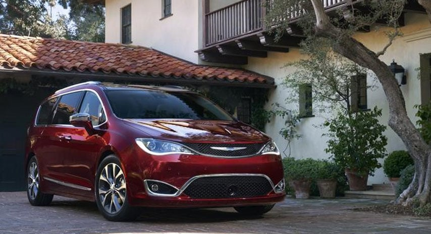 Red Chrysler Pacifica Minivan For Sale