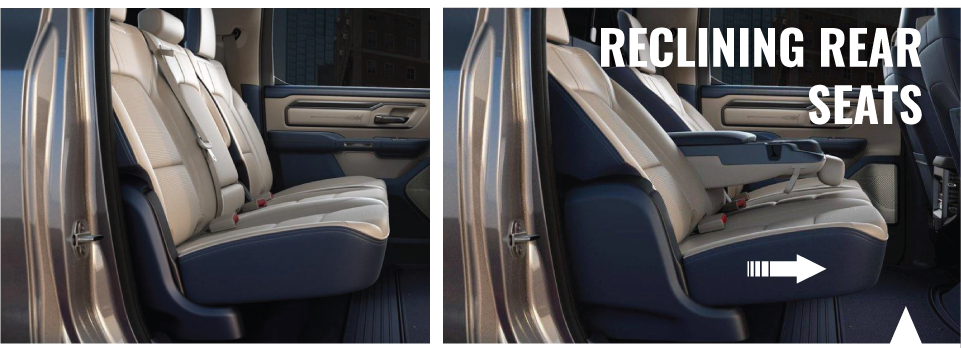 2019 RAM 1500 Reclining Rear Seats