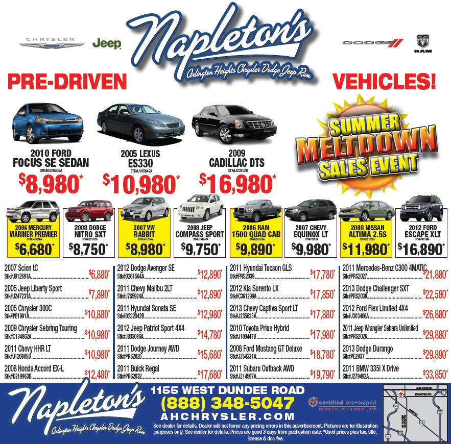 Napleton S Arlington Heights Chrysler Dodge Jeep Ram New