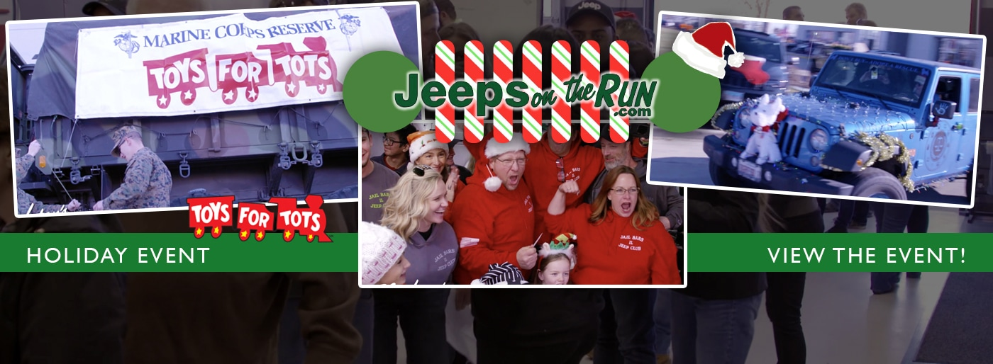 Jeeps On The Run Event For Toy For Tots At Arlington Heights CDJR