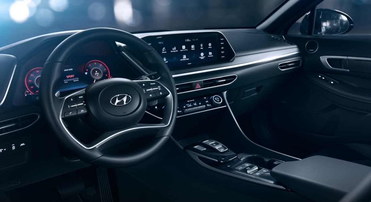Photo of 2020 Sonata with Black Leather Interior