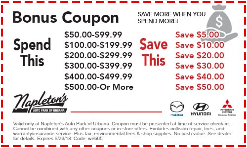 Car Service Specials & s | Napleton's Hyundai of Urbana