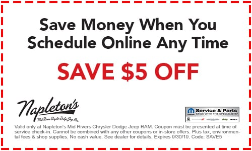 Service Specials & Coupons | Napleton's Mid Rivers Chrysler