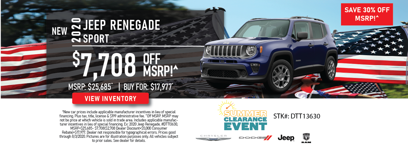 Jeep  Renegade Lease Deal & Finance Offer