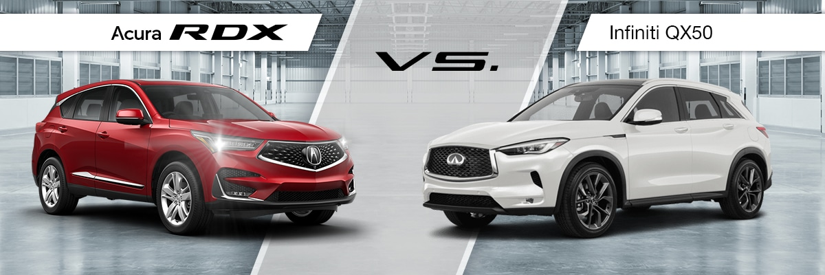 2019 RDX Vs 2019 Infiniti QX50 Comparison
