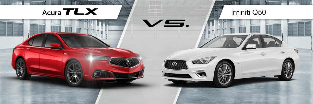 2019 Acura TLX vs 2019 Infiniti Q50 Comparison