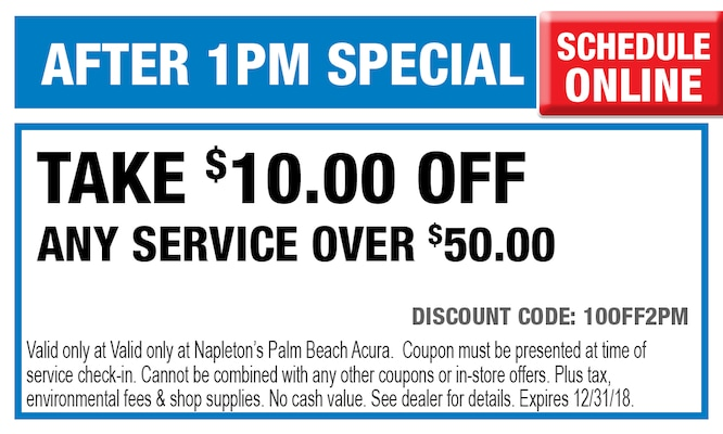 Napletons Palm Beach Acura Service Specials West Palm Beach - Acura coupons