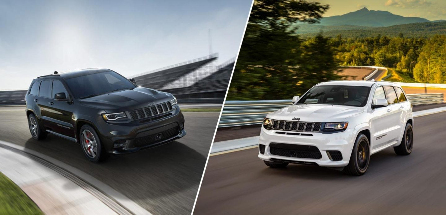 Jeep Grand Cherokee Trackhawk vs SRT Comparison