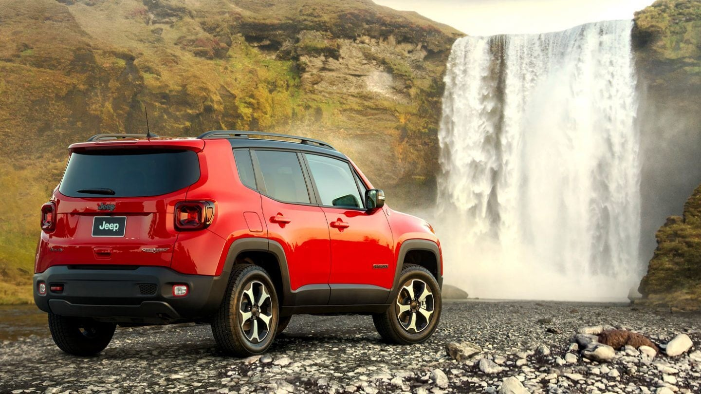 New 2020 Jeep Renegade Trailhawk Compact SUV Near Waterfall
