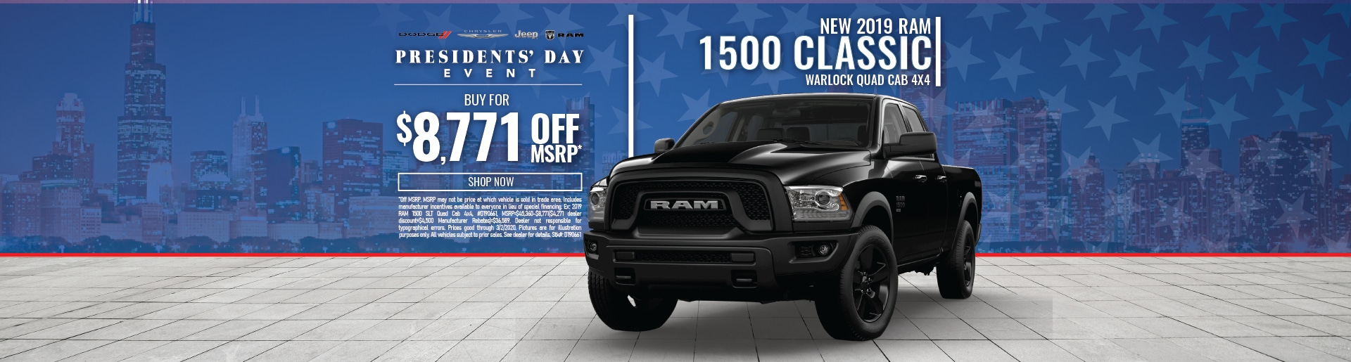 RAM 1500 Pickup Truck Special Discount Deal