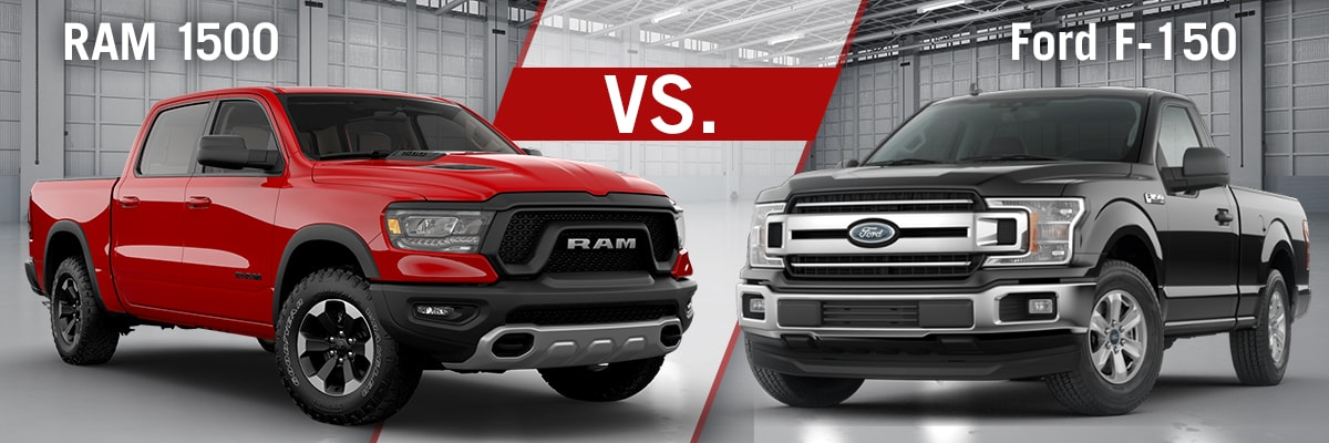 RAM 1500 Vs Ford F-150 Comparison