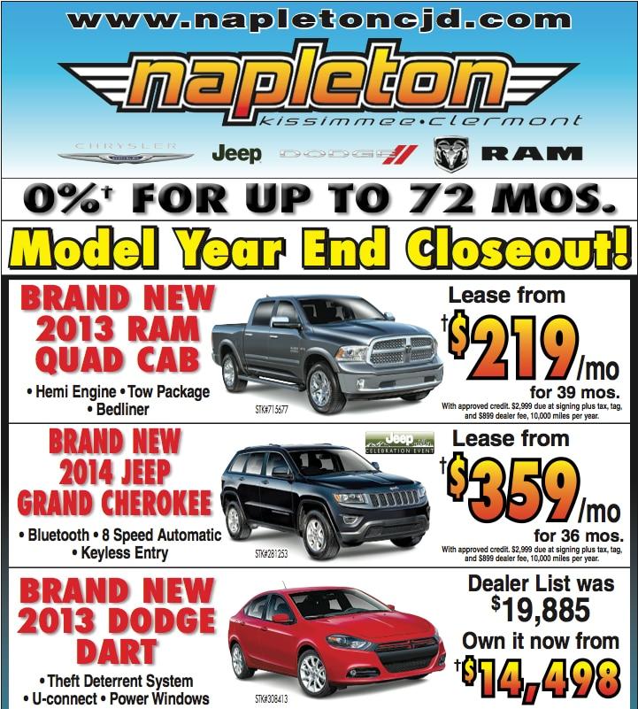 end of year car deals orlando