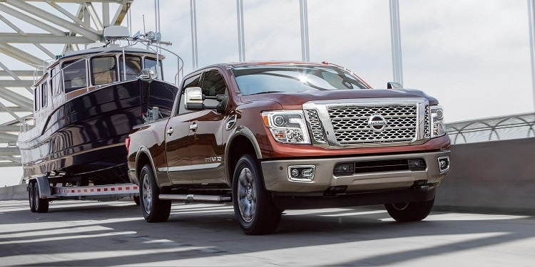 Nissan Titan XD Towing a Boat