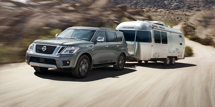 Nissan Armada Towing an Airstream RV
