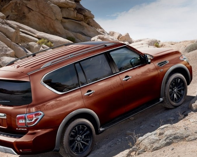 2019 Nissan Armada Driving Up Mountain