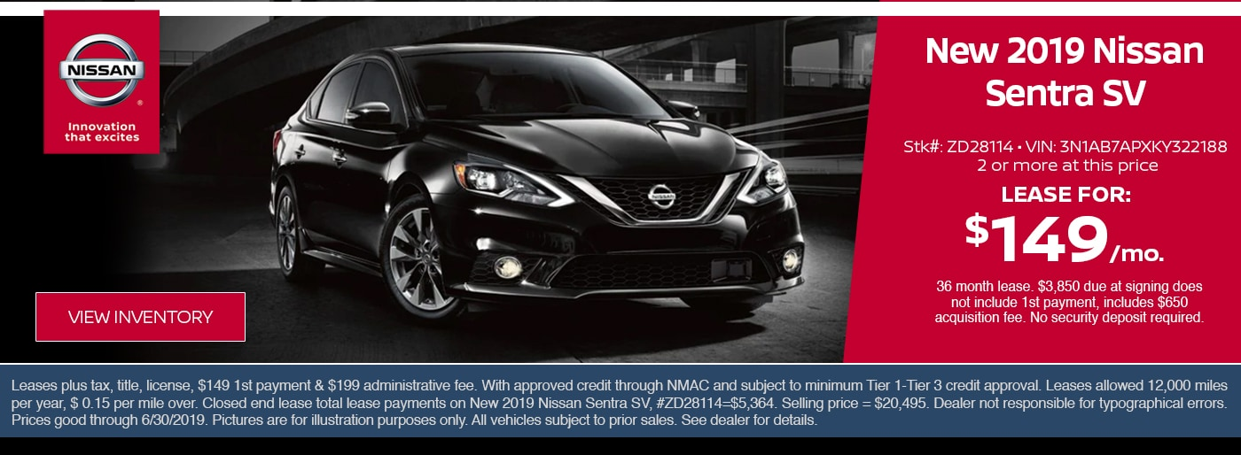 New 2019 Nissan Sentra Driving
