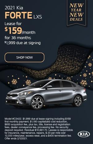 January Offer- 2021 Kia Forte LXS