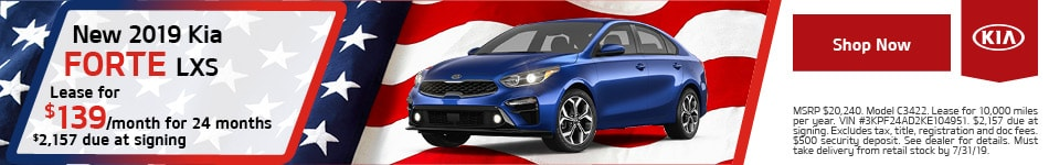2019 Kia Forte - July Offer