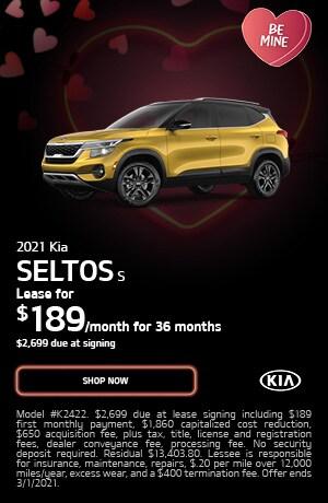 2021 Kia Seltos S- February Lease Offer