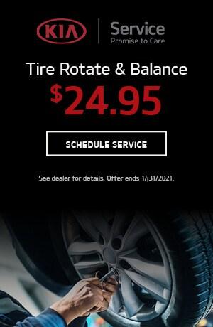 Tire Rotate & Balance- January Offer