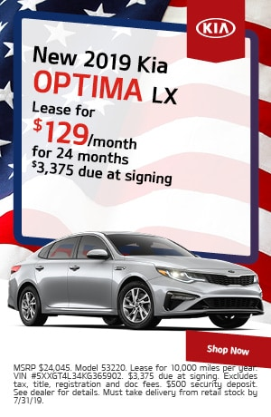 2019 Kia Optima - July Offer