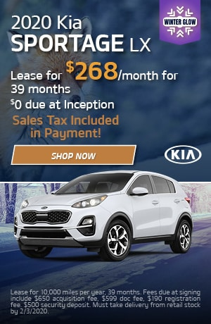 2020 Kia Sportage - January Offer