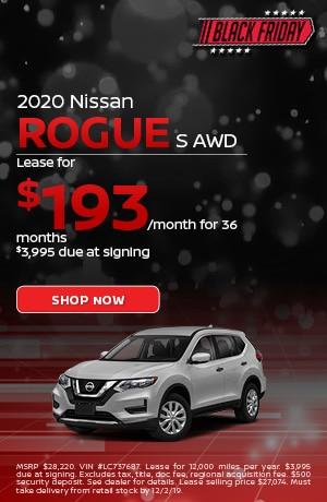 2020 Nissan Rogue - November Offer