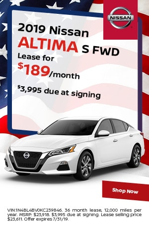 2019 Nissan Altima - July Offer