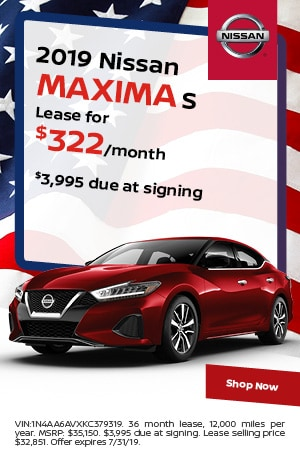 2019 Nissan Maxima - July Offer