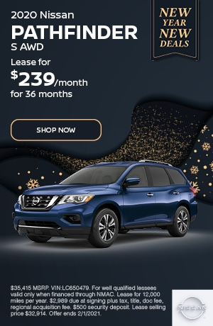 2020 Nissan Pathfinder - January Offer