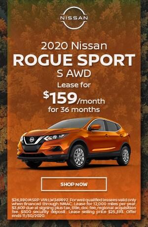 2020 Nissan Rogue Sport - November Offer