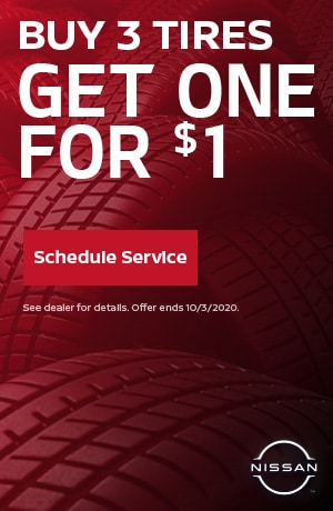 Buy 3 Tires Get One For $1 - September Special