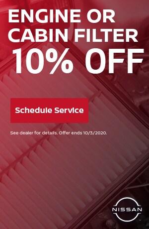 Engine or Cabin Filter - September Special