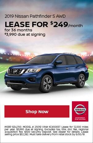 2019 Nissan Pathfinder - September Offer