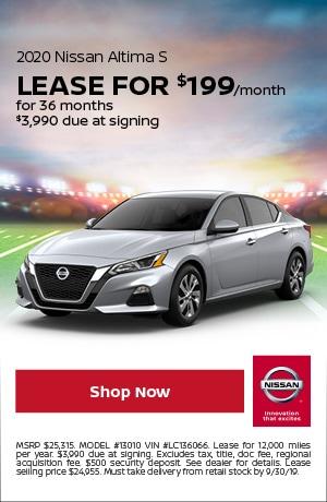 2020 Nissan Altima - September Offer