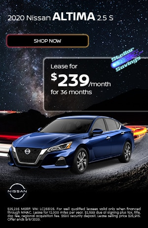 2020 Nissan Altima - August Offer