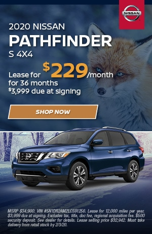 2020 Nissan Pathfinder - January Offer