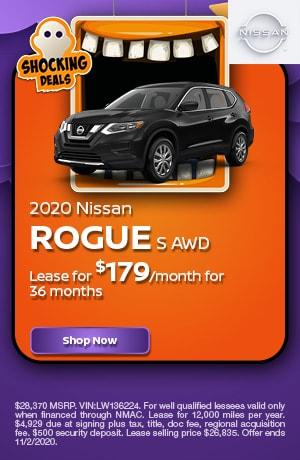 2020 Nissan Rogue - October Offer