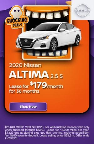 2020 Nissan Altima - October Offer
